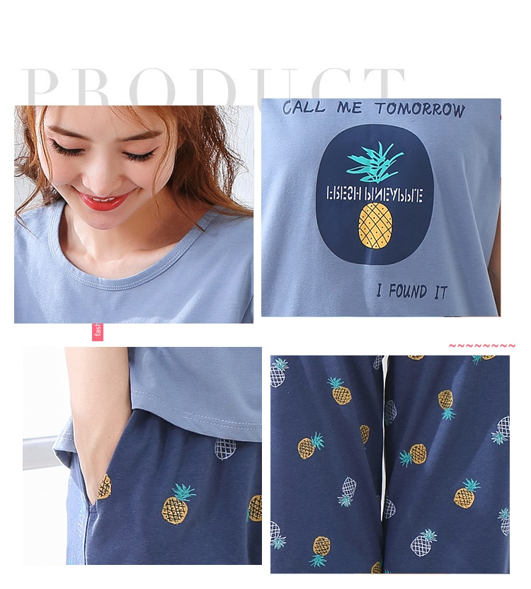 Image 5 - Summer Pajamas Cotton Home Pants Women Sleepwear Thin Pyjama Women Pants Female Casual Lady Home Wear Plus Size XXL 3XL 4XL 5XLPajama Sets   -