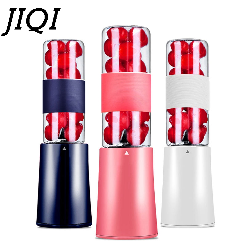 JIQI Multifunction Portable Electric Fruit Juicer Cup Mini Milkshake Mixer Orange Juice Blender Small Bottle Extractor EU plug цена и фото