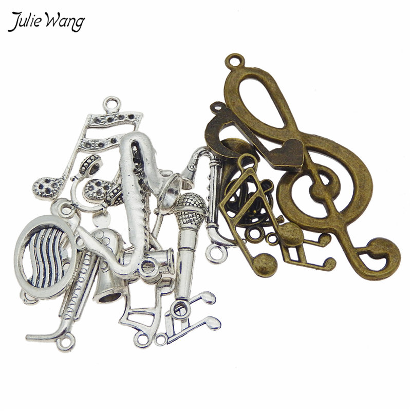 Mixed Music Instruments Notes Pendants Charms Music Jewelry 2