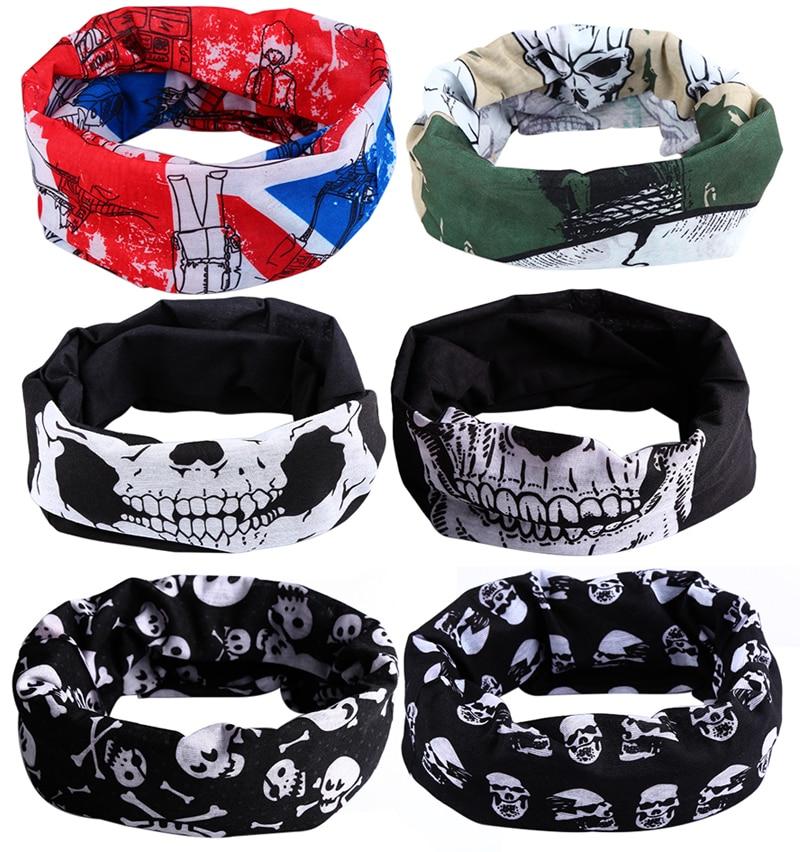 Snood Scarf Helmet Headband Skull-Mask Wind-Hood Punk Halloween Bike Hot Balaclava Face