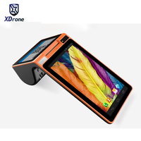 Original P90 Dual Screen Tablet PC POS Android Smart Handheld Terminal with 58mm Printer Data Collector 7 Screen NFC Bluetooth