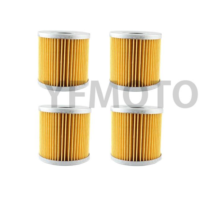 4 Pcs Filtro De Óleo Da Motocicleta Para HON da GL1100 Um Aspencade 82-83 GL1100 Gold Wing 80-85 GL1100 Eu Interstate 80-83 Gold Wing GL1200