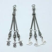 3pcs Charm popular Turkey Muslim rosary pendant DIY handmade necklace jewelry findings accessories