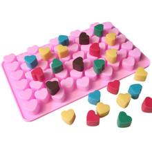 55 Holes Cute Heart Style Silicone Chocolate Mold Ice Cube Candy Lolly Muffin Mould Valentine Gift Maker Kitchen Baking Tools skeleton skull head silicone chocolate muffin cupcake candy ice cube mold halloween