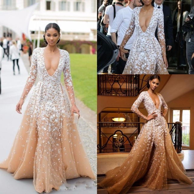 Prom Dress With Detachable Train