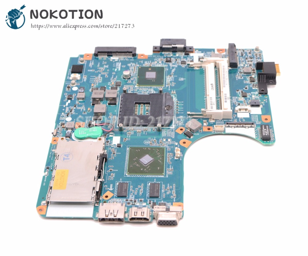 NOKOTION For Sony Vaio VPCEB VPC-EB Laptop Motherboard A1771577A HM55 DDR3 HD4500 MBX-224 M960 1P-009CJ01-8011 MAIN BOARD