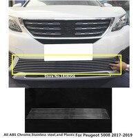 Для peugeot 5008 2017 2018 2019 детектор Тюнинг автомобилей тела номерных знаков отделкой спереди вверх Гонки сетки гриль решеткой панели капюшона рам