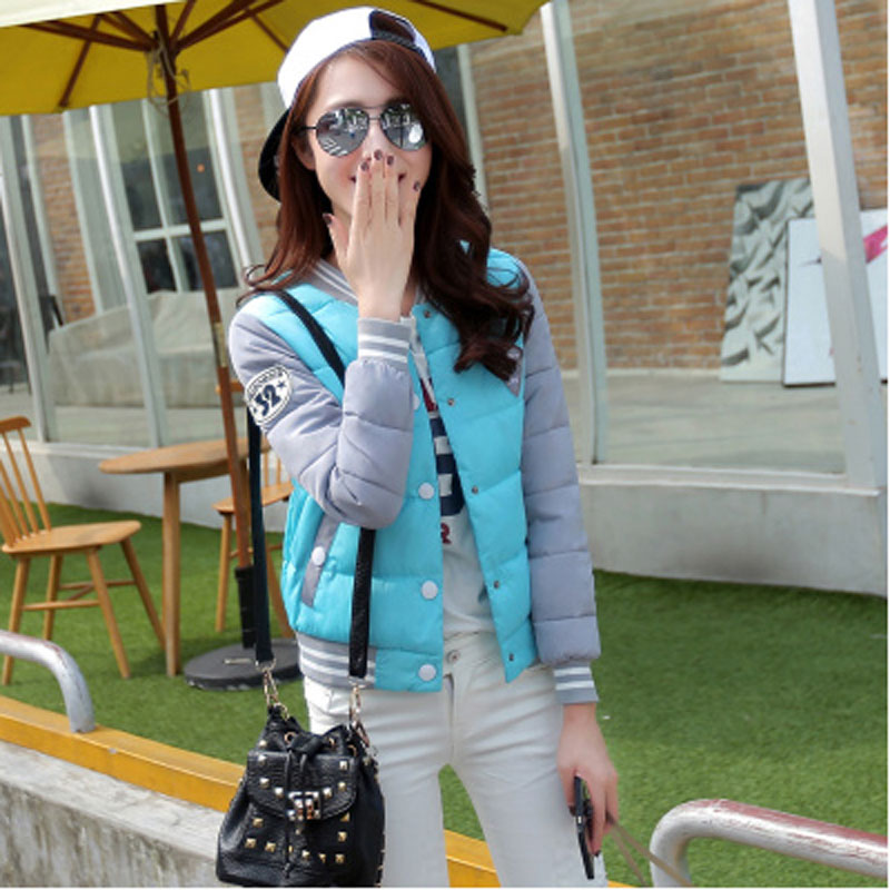 ФОТО 2017 new women,s autumn winter Korea style  jacket female students big yards short baseball uniform thin cotton coat WL-040