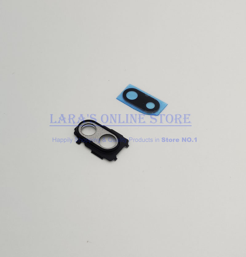 Genuine New for Xiaomi Redmi Note 7 Note7 Back Rear Camera Lens Glass Cover with Metal Frame Holder Replacement Parts