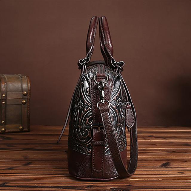 Fashion Women Genuine Embossed Leather Handbag Vintage Trend Casual Female Crossbody Messenger Shoulder Bag Ladies Tote Bags New