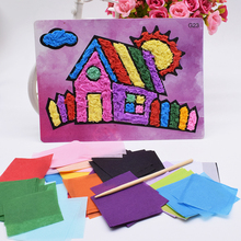 Diy House Crafts Toys For Children Felt Paper Girl Handicraft Kindergarten Material Funny Arts And Craft Kids Gift For Baby Boy cheap AC193 Do not eat Occupations Animals Nature 5~7 Years Rainbow paper NoEnName_Null