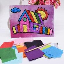 Casa de brinquedos de artesanato diy, papel de feltro para crianças, menina, artesanato, jardim de infância, material engraçado, artesanato, presente para bebê menino