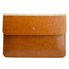 Jisoncase Чехол Для Ноутбука Чехлы для MacBook Air 11 4,7-дюймовый Luxury Натуральная Кожа Ноутбук Сумка Для Ноутбука Обложка книги для Macbook Air