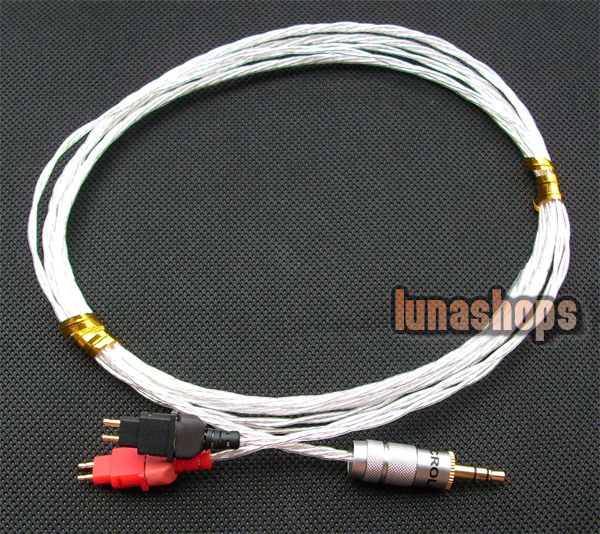 DIY Hifi Silver updated Cable for Sennheiser HD580 HD600 HD650 Headphone Headset LN002268 hd650 hd600 hd580 hd525 headphone upgrade cable occ silver plated