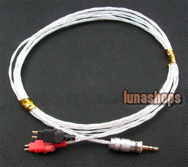 DIY Hifi Silver updated Cable for Sennheiser HD580 HD600 HD650 Headphone Headset LN002268 кабель publicity hd580 hd600 hd650