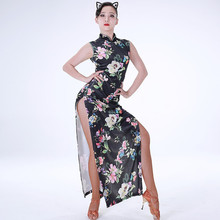 Cheongsam latin dancing dress tango costume latin salsa dress tango latin dance wear cha cha costume latin ballroom clothes