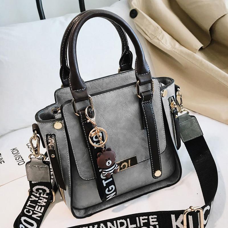 Beibaobao 2019 Women Fashion Handbag Lady Shoulder Bag  Fashion Wide Shoulder Strap Bag Girl Shoulder Package High Quality Bag