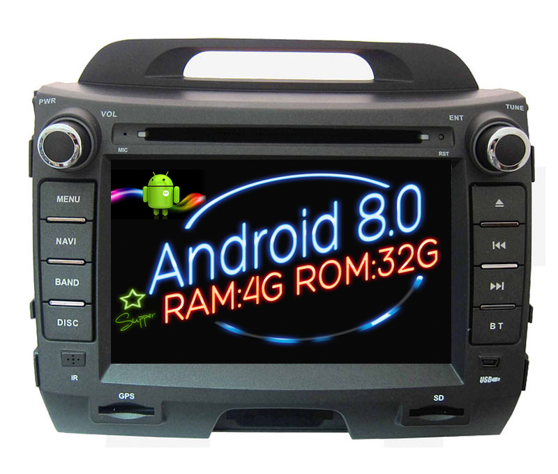 Octa(8) Core Android 8.0 Car Dvd Player gps FOR KIA Sportage (2011-2015) Navi audio multimedia auto stereo RAM 4G ROM 32G