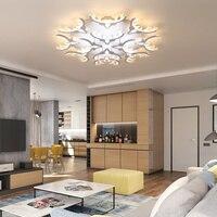 VEIHAO белые Мощность светодиодный потолочная люстра для Гостиная Спальня дома современный светодиодный крепление для люстры