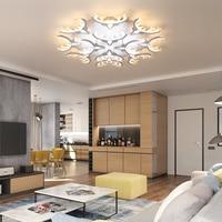 VEIHAO White High Power LED Ceiling chandelier For Living Room Bedroom Home Modern Led Chandelier Lamp Fixture