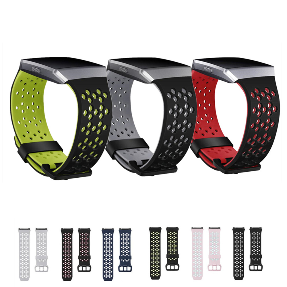 Sport Band for Fitbit Ionic watch strap bracelet Replacement wristband Silicone watchband wrist belt with metal double-buckle цена 2017