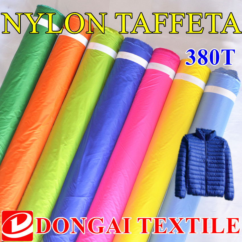 1*1.5m High-grade 20D Ultrathin fabrics.380T nylon microfib fabric jacket for men and women, through water, down-proof handle.