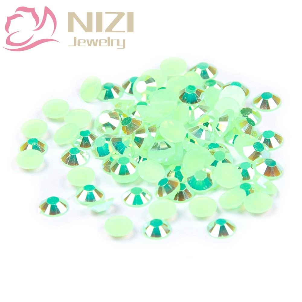 2016 New Arrive Resin Rhinestones For 3D Nail Art DIY Decorations Design 2-6mm Green AB Color Flatback Non Hotfix Glitter Stones new arrive resin rhinestones for nail art diy decorations design 2 6mm dark rose ab color 14 facets glitter flatback non hotfix