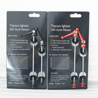 700c Road Bicycle Titanium Skewer Carbon Bike Quick Release TI QR For Cycling Carbon Wheelset