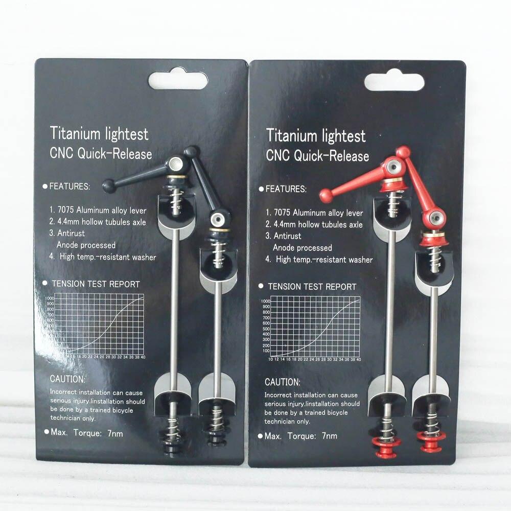 700c Road Bicycle Titanium Skewer Carbon Bike Quick Release TI QR Skewers for Road Bicycle Wheels