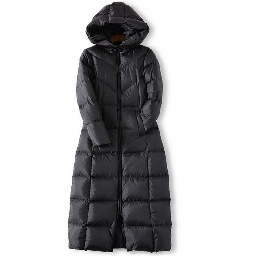 Women Slim Long Down Coat Winter Jacket Duck Down Hood Warm Fashion High Quality