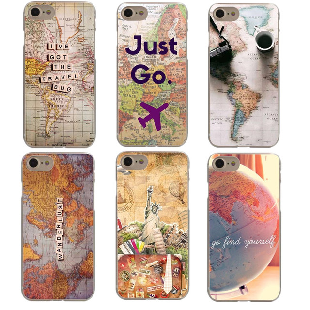 World Map Iphone 6s Case.World Map Travel Just Go Plans Transparent Hard Pc Phone Case For