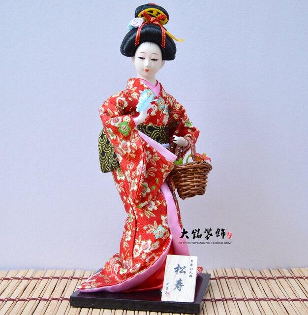 Jepang boneka Jepang humanoid Jepang Geisha Jepang Japanese kimono boneka 12  inch dc8d0ffac4