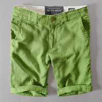 High Quality 100 Linen Men S Loose Casual Shorts