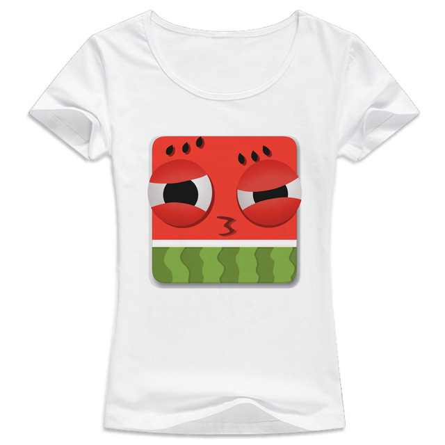 watermelon Summer novelty Design T Shirt Women kawaii tumblr girl ...