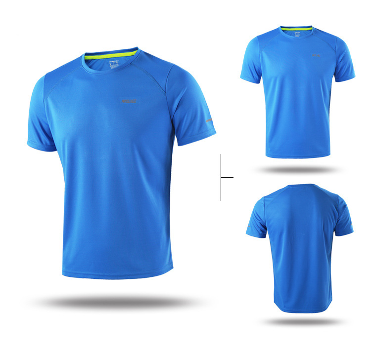ARSUXEO Summer Men's Running Shorts Jersey Set Compression Jogging Quick Dry Sport T Shirt Running Suit Sportswear Gym Clothes