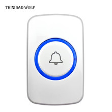TRINIDAD WOLF F51 Wireless Doorbell Button Welcome Doorbell SOS Button Panic Emergency Button for Home Security GSM Alarm System