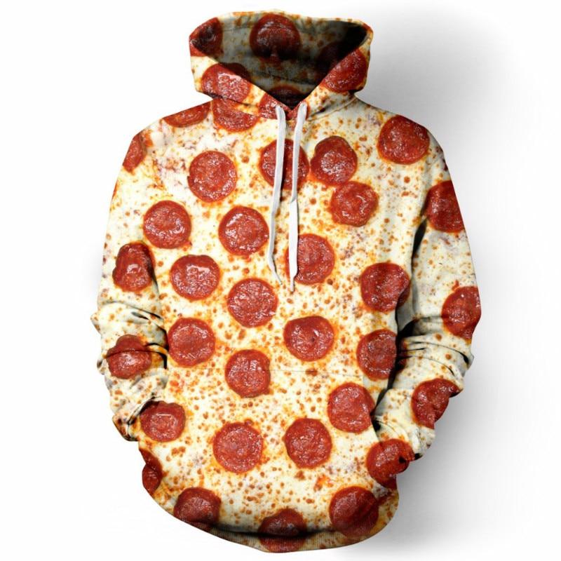 CFYH 2018 New Fashion Unisex 3D Hooded Sweatshirt Printing Cute Food Pizza Hoody Funny Tracksuit Men/Women Hoodie Pullovers