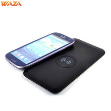 WAZA 5V 2.1A Super Thin Wireless Charger /Q1 Universal Anti Slip Wireless Charging Base For Cellphone