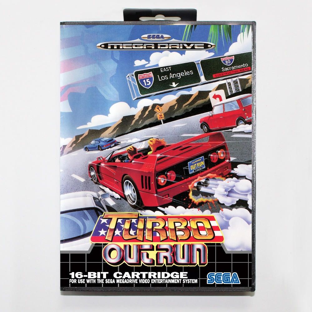 Turboo utrun 16 bit SEGA MD Game Card With Retail Box For Sega Mega Drive For Genesis