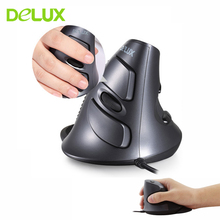 Human Engineering Delux M618 Wired Mouse Ergonomics Vertical Mause Healthy Laser Mice For PC Laptop Computer