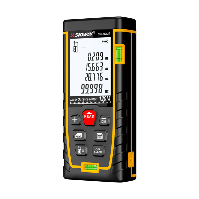 SNDWAY Laser Distance Meter 40-120M with LCD and Auto Power Off to Measure Wide Range Area 26