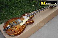 OEM Gib Guitars tobaccoburst flame top LP Standard jazz electric guitar with bigsby