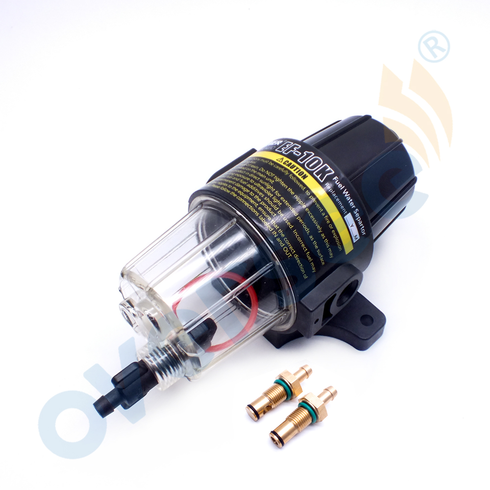 medium resolution of ef 10k fuel filter water separator with clear bowl and drain for yamaha suzuki tohatsu mercury outboard engine tpr 225 uf 10k