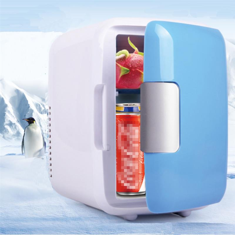 Car Refrigerators Thermoelectric Portable Fridge Cooler and Warmer Refrigeration Heating 4 Liter 6 Can Mini Size 12V DC fridge