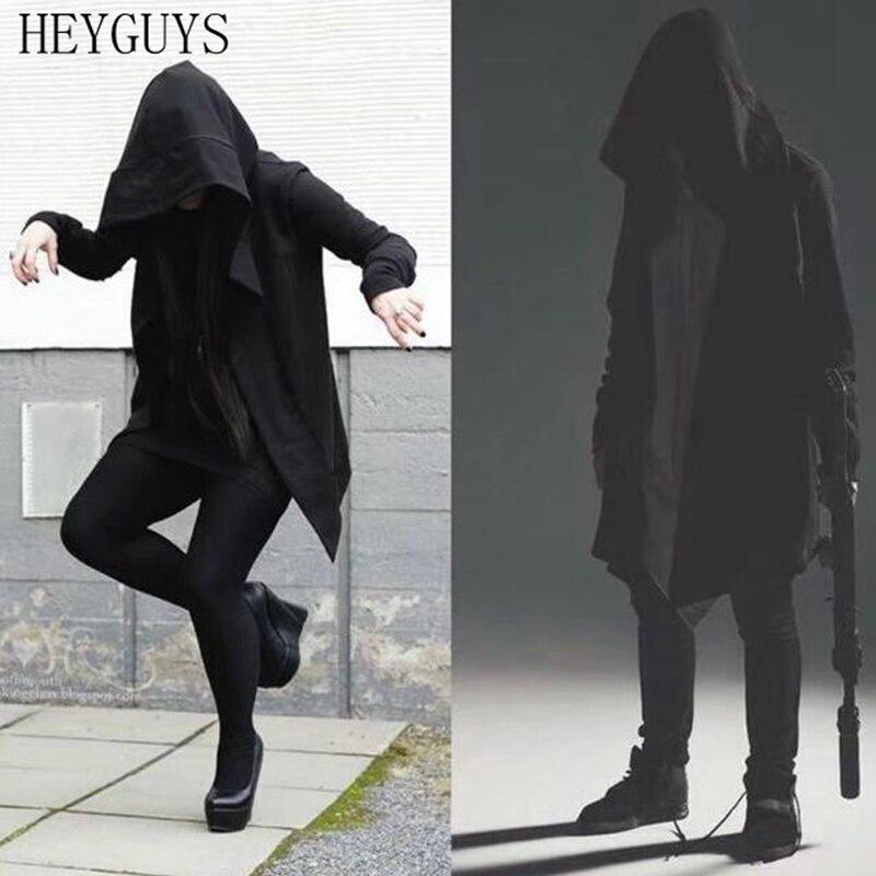 NAGRI 2020 New Autumn Men's Hooded Jacket with Black Gown Long Wizard Jacket Hoodies Cloak Men Streetwear Fashion Coats M--XXL