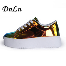 2019 Spring Women Platform Shoes High Top Fashion Casual Female Height Increasing Sneakers 20D50