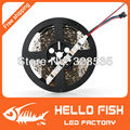 HELLO FISH, 5M WS2801 LED strip,Raspberry Pi control LED strip,Arduino development ambilight TV,White or Black PCB