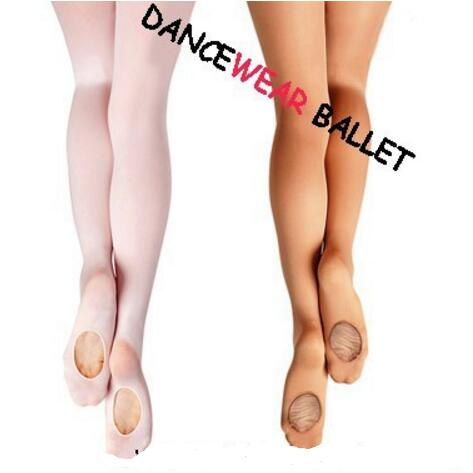 Wholesale Adult Women Pink Dancewear Ballet Soft Microfiber Convertible Dance Ballet Tights With Holes For Sale