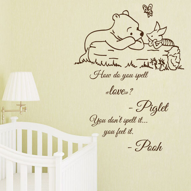 hwhd neue wandtattoo zitat winnie the pooh aufkleber. Black Bedroom Furniture Sets. Home Design Ideas