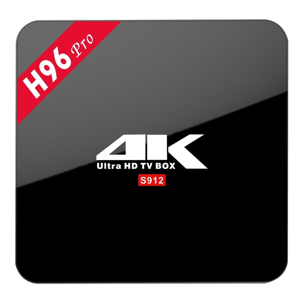 H96 Pro Android 7.1 TV Box Amlogic S912 Octa Core Max 3G RAM 16G ROM Bluetooth 2.4G/5.8G WIFI 3D/4K Smart TV Media Player PK X92